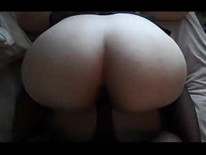 Horny big boobs brunette whore rides