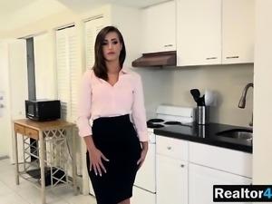 Brunette Realtor Kelsi Monroe Gets Pussy Filled