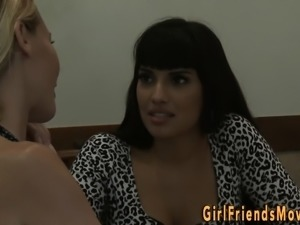 Busty latina lesbian milf