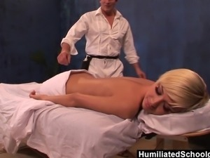 Hot CollegeGirl Emma Mae receives a nice dick-massage