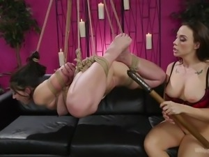 Mandy loves to be fucked by her lesbian lover Chanel, but she also loves it...