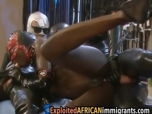 African sex slave is getting pounded from all