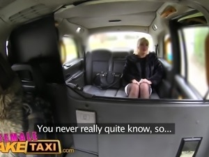 Female Fake Taxi Drivers dildo results in squirting lesbian