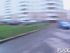 Picked up hotty fucked on web camera