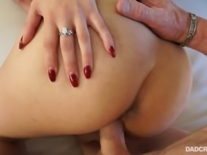 Charming brunette with hairy muff Penelope Reed is fucked on a pov camera