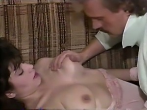 Beautiful and sexy brunette girl eats dick and rides on it