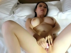I adore to play with her charming Asian pussy