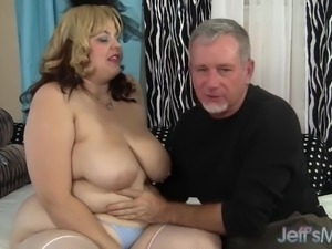 BBW Buxom Bella takes fat cock
