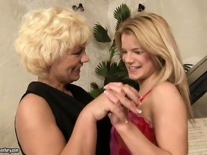 Hot mature piano teacher explores her lesbian needs with a lovely teen