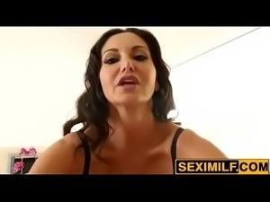 stepmom ava adams strip for son -watch more at www.seximilf.com