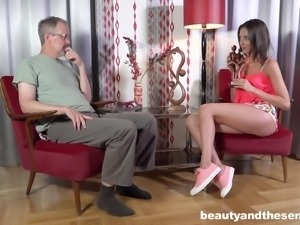 Miki Torrez is a cute girl who cannot resist a mature man's touch