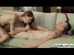 Trans babe Freya Wynn sucks and and gets fucked in the ass