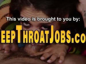 Babe throats and sucks