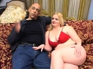 Interracial cock sharing threesome fuck