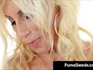 Blonde Babe Puma Swede Licks Her Fingers After Anal Play!