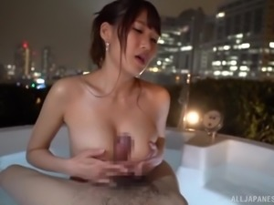 Slut Mihara Honoka having her face and tits fucked in the bathtub