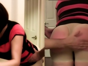 I spank my sexy wife in sexy panties