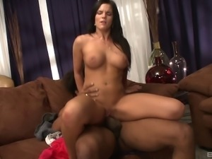His cock is as big as her forearm and he fucks her well with it