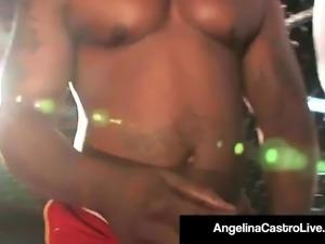 BBW Angelina Castro Sucks Nat Turnher's BBC In A Fight Cage!