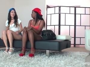 Jade Eva is a black babe who craves to be a part of a threesome