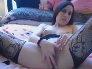 Horny Brunette Whore Tasty Ass Play With Dildo