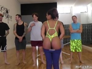 Zoey Reyes is a hot ebony babe in need of white boners