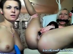 Amateur bondage hardcore girl on girl gagged