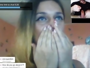 ChatRoulette - Russian Girls Big Cock Reactions 8