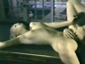 Gorgeous blondie having passionate sex on the table