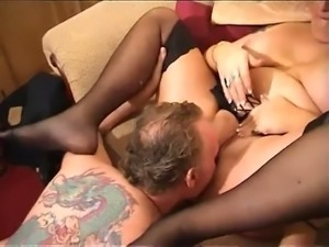 Chunky blond haired housewife Debbie Desire gets fucked hard enough missionary