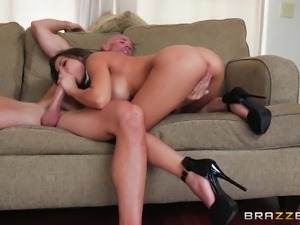 Madison Ivy spreading and having her slippery twat penetrated