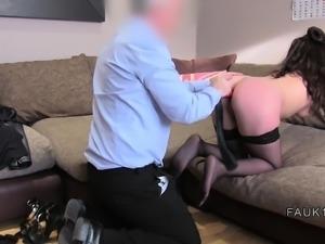 British casting agent anal bangs brunette
