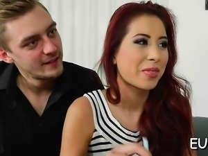 Perverted floozy fingered and drilled