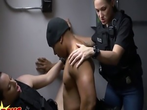 Horny cop craving for black dick