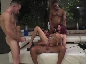 redhead gets ass fucked @ live shows - september