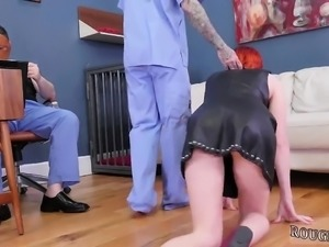 Teen mother and big dick glasses first time Analmal Training