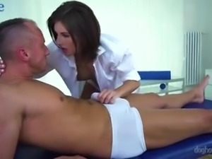 Jennifer Jane is sexy massage guru who is good at sucking dick too