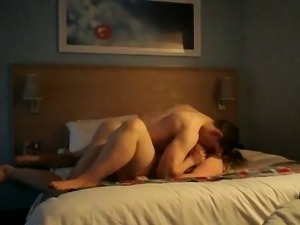 Dirty-minded emotional blond haired neighbor of my buddy is fucked