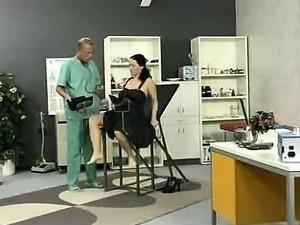 British mature MILF gives blowjob and lick balls