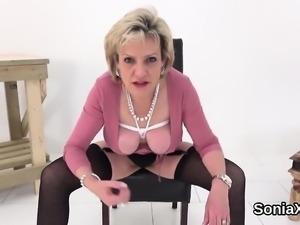 Unfaithful british milf gill ellis flaunts her oversized mel