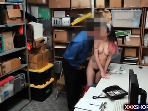 Cutie latina shoplifter got caught and punish fucked