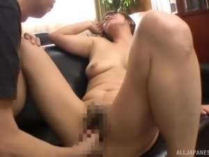 Japanese woman's cunt filled with semen after a sex session