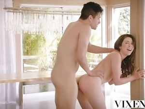 VIXEN Cam Girl Gets Caught And Fucked By Roommate