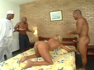 Nice ass model roughly smashed hardcore with big black cock