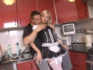 Hired to clean this sexy maid has no problem having sex with me on camera