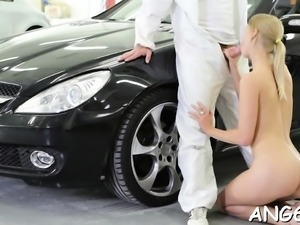 Licking beautys natural tits makes stud so lewd with needs