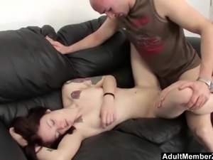 Babysitter pleasured while she sleeps