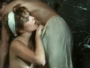 Sweet blonde Italian cutie feeds on a dick of her man