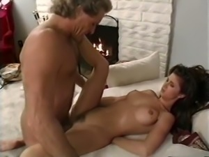 Sweet and lovely brunette gets on her knees to suck cock