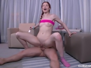 Skinny slut Loveina wants to feel a big dick in her tight anus